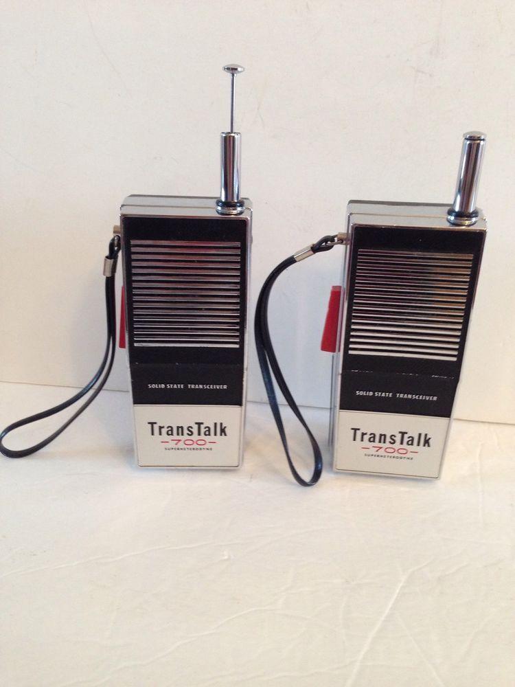 Vintage Trans Talk 700 Walkie Talkies Solid State Transceiver   My