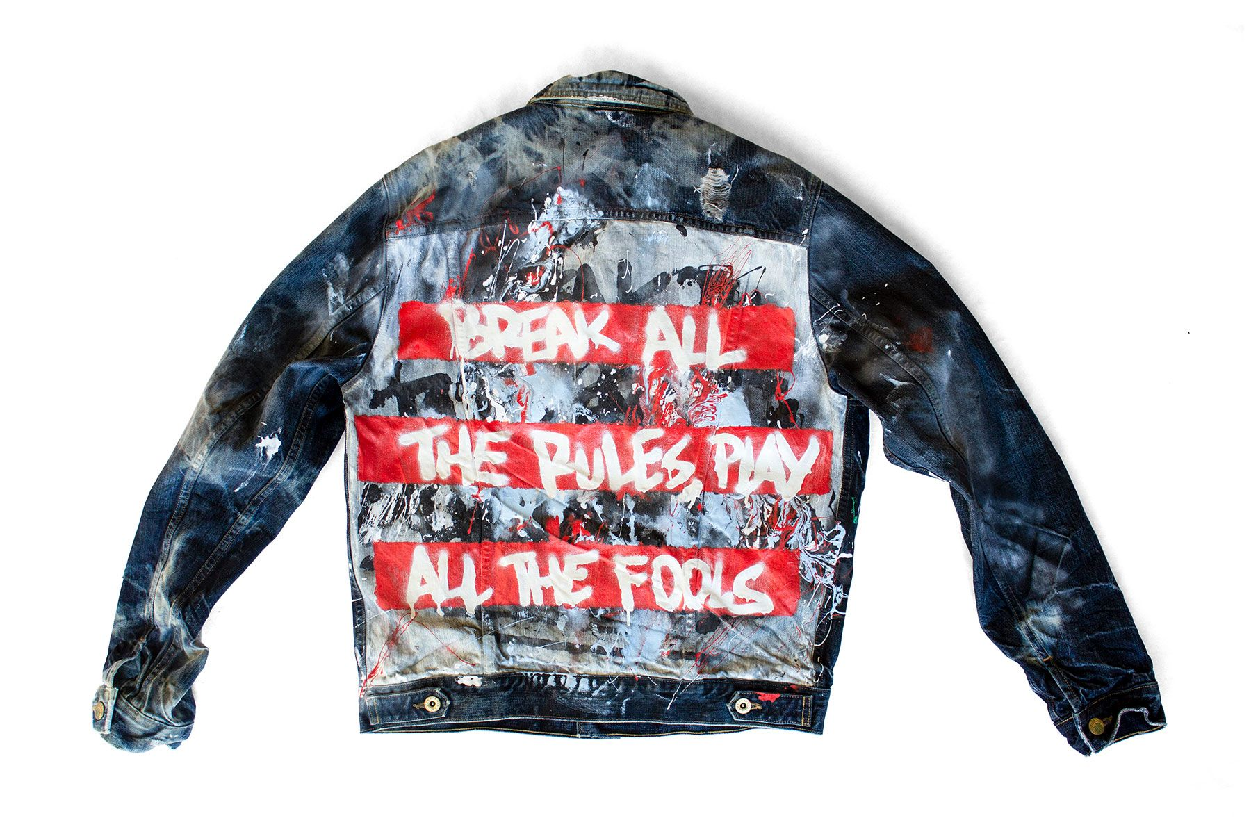 Mgandhkm Bleached Spray Paint Acrylic Painted Jacket Painted Denim Spray Paint Fashion [ 1200 x 1800 Pixel ]