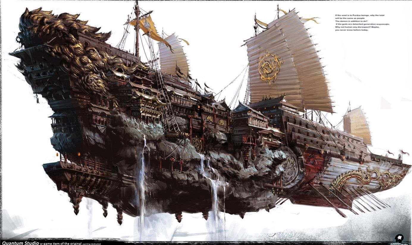 Concept Art Fantasy Ship