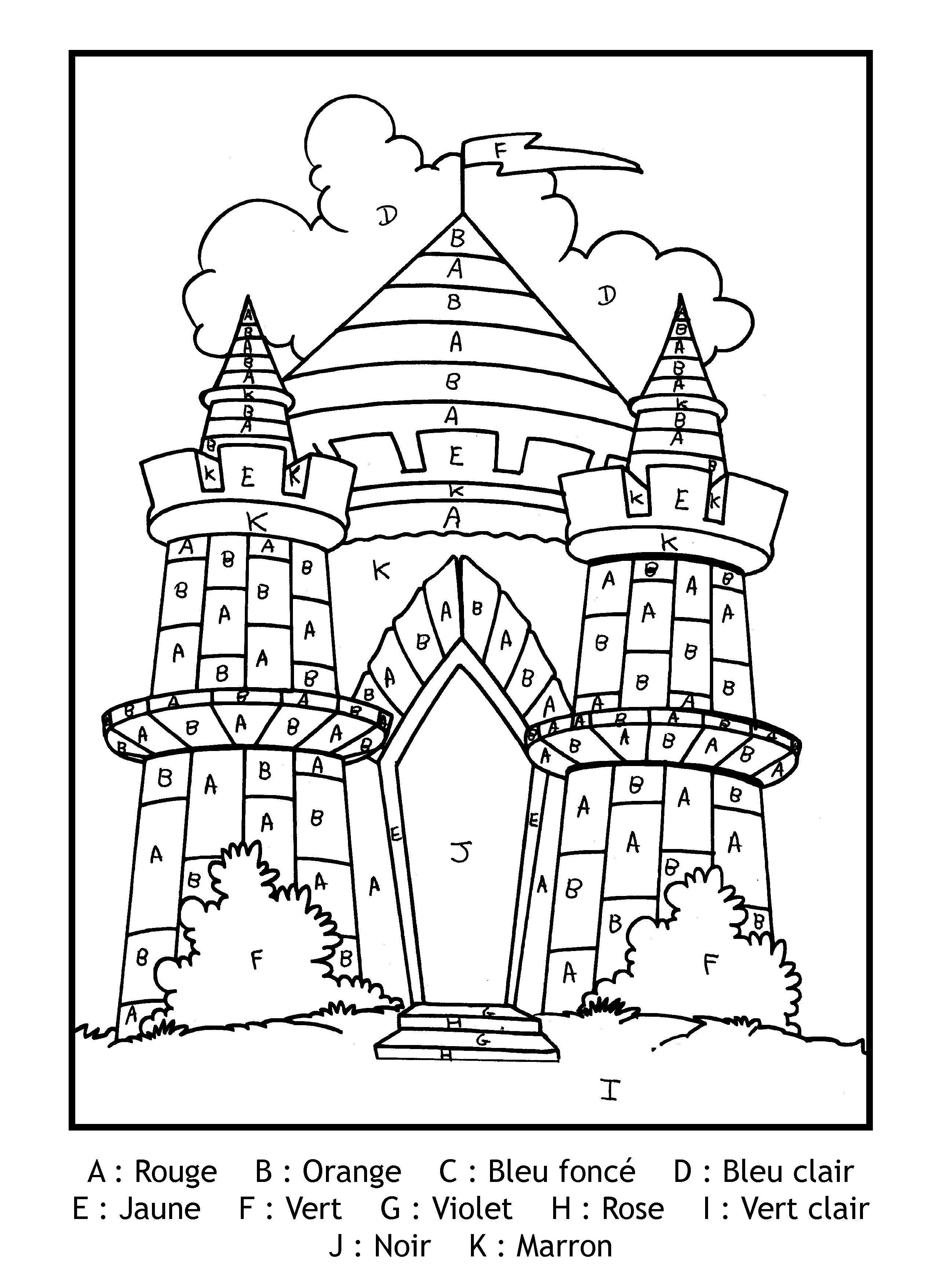 Coloriage Chateau Gs.Epingle Par Vlasta Maxova Sur Skolka Coloriage Magique Coloriage
