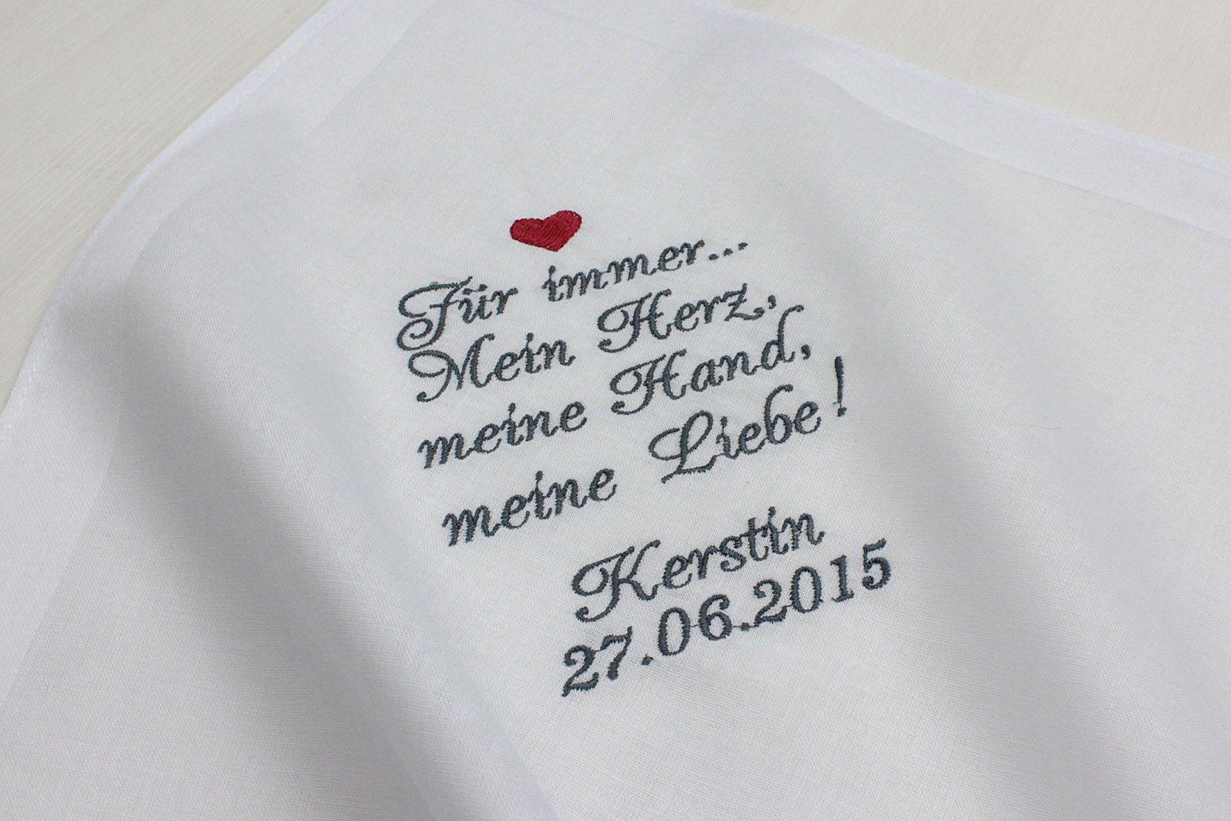 MAZUnikate - Traumhafte Stickereien - Taschentuch