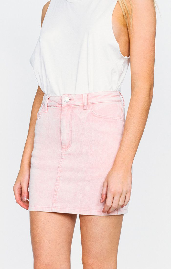 AFENDS CHEVY DENIM SKIRT - PINK ACID | Clothes wishlist ...