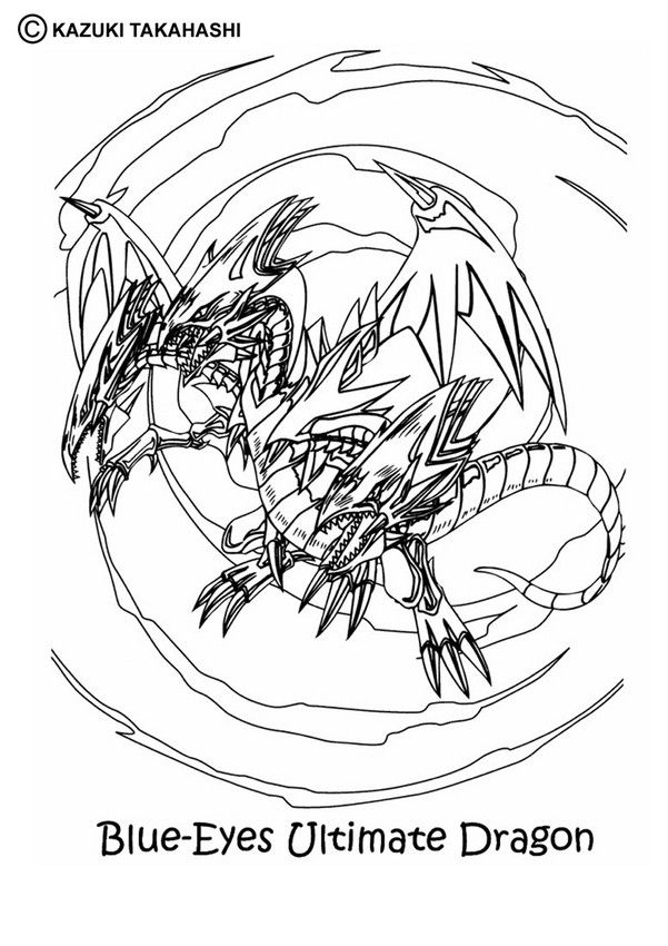 Ultimate Dragon Coloring Page Hellokids Fantastic Collection Of YU GI OH Pages To PrintFree