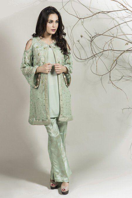 833a07cbd Stylish Pakistani Party Wear Dresses 2018 For Girls In Jacket Style ...