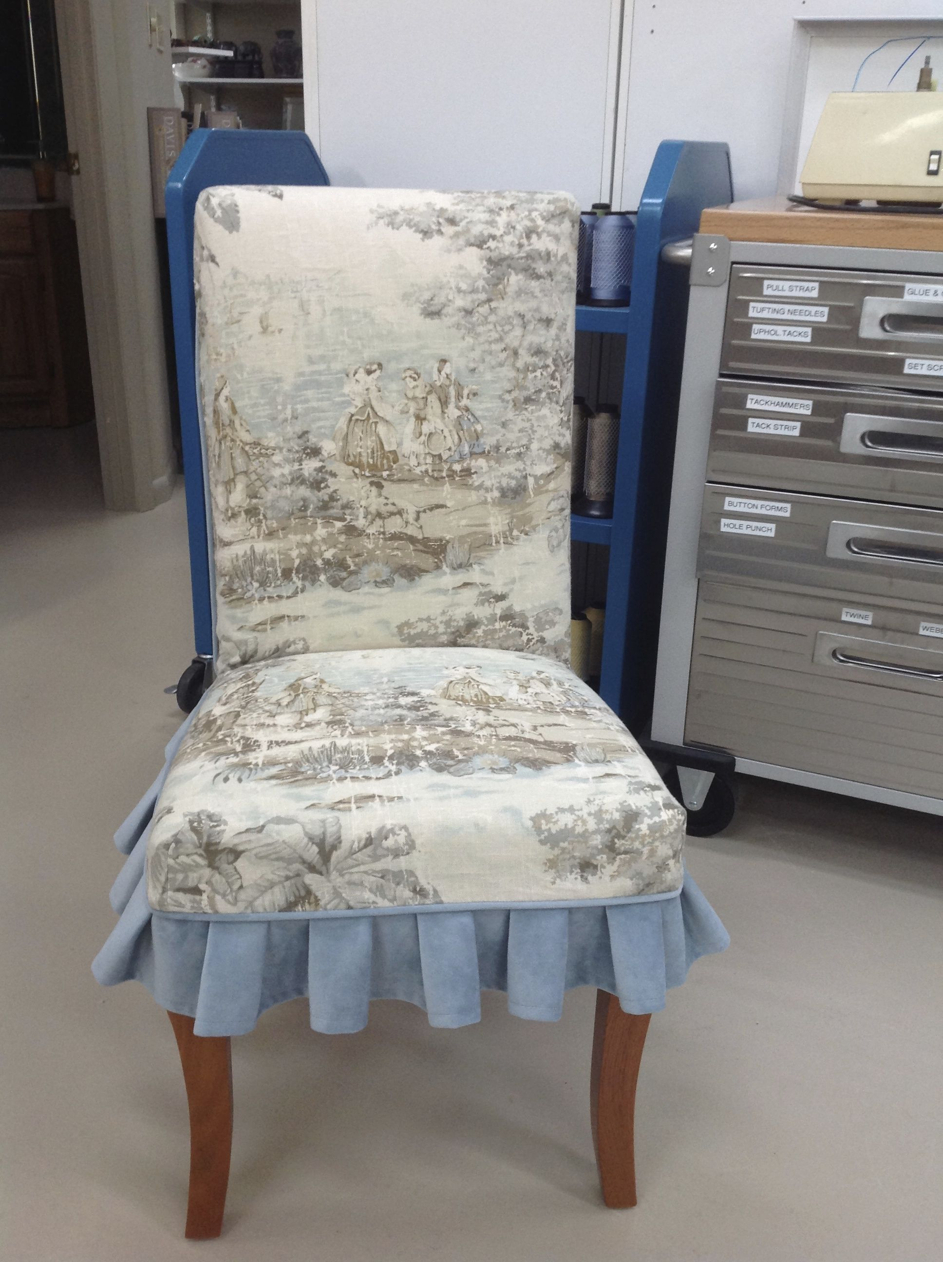 French Country Slipcover For Parsons Chair