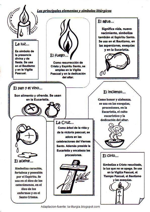 Elementos Liturgicos Catequesis Ensenanza Religiosa Sacramento Del Bautismo