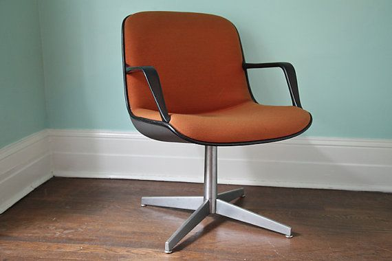 Office Chair Mid Century Modern Orange By