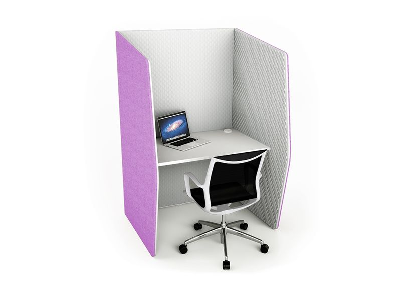 Snug by boss design is a self contained workspace ideal for private individual work in busy