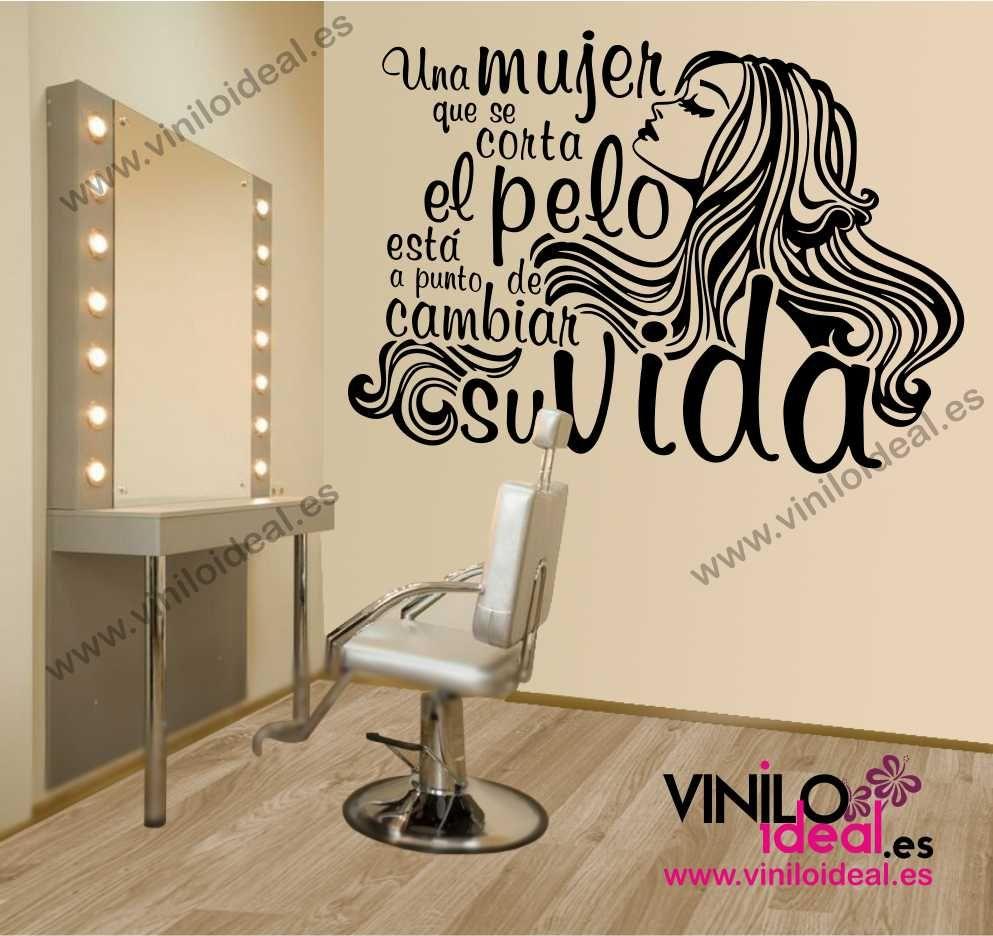 Resultado de imagen para vinilos para peluqueria vinilos - Ideas para decorar una peluqueria ...