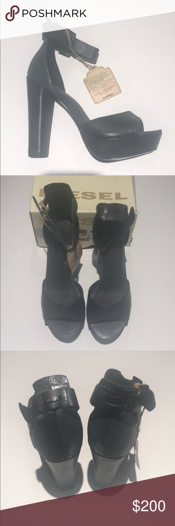 b3bd11f508 Diesel women's heels pumps Black size 37 NIB Up for sale Diesel woman's heels  size 37