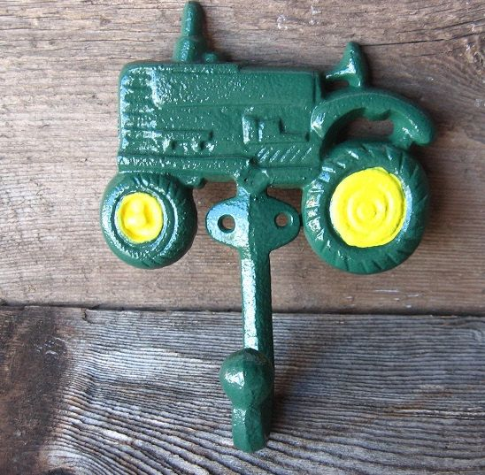 John Deere Bathroom Decor: Farmhouse Chic Cast Iron Tractor Hook/ Home Decor/ For The