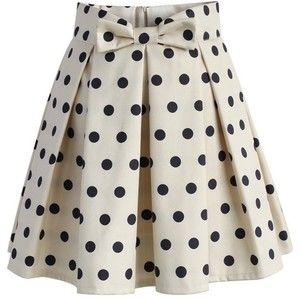 c631045afc Chicwish Sweet Your Heart Polka Dots Skirt in Beige Saia Godê