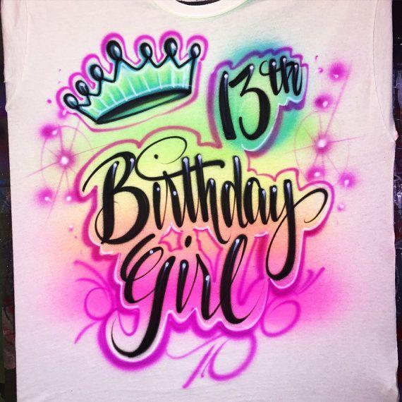 Airbrush Birthday Shirt In 2019