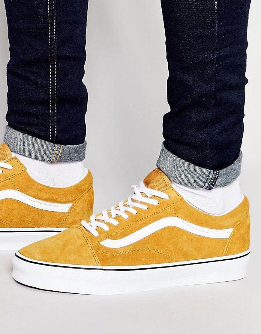 Vans+Old+Skool+Suede+Trainers+In+Yellow