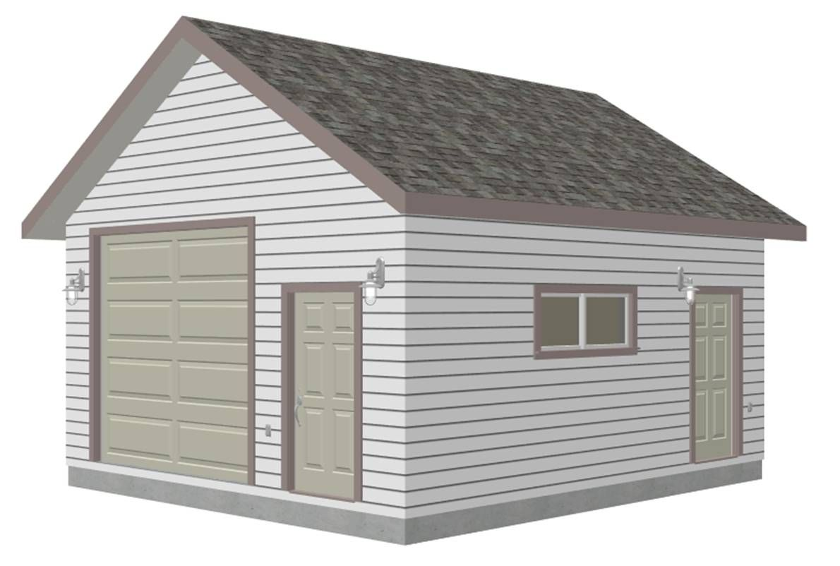 G447a 18 X 20 X 10 8 12 Pitch Free Pdf Garage Plans Blueprints