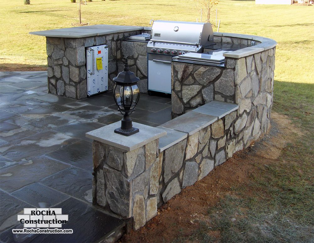 Exceptional DIY Outdoor Kitchen | Diy Outdoor Stone Fireplace Grill Pictures