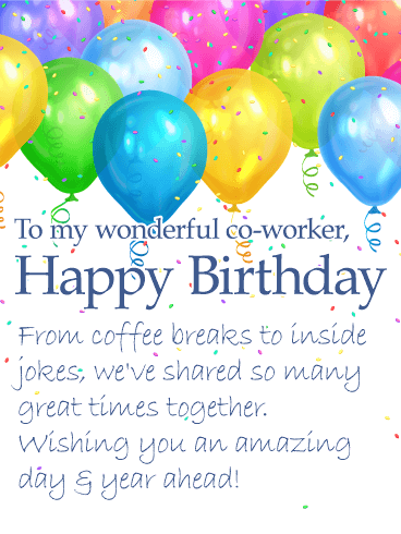 Birthday Card Messages For Coworker : birthday, messages, coworker, Wonderful, Co-Worker, Happy, Birthday, Wishes, Greeting, Cards, Davia, Coworker,, Cards,