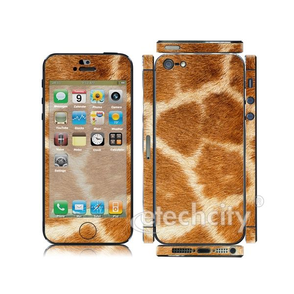 Animal Pattern Skin Cover Screen Protector for Apple iPhone 5 (Style 3) [CCSK-PHVPL19] - $12.00 : Giraffe