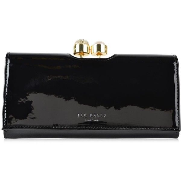 TED BAKER Kattia Crystal Clasp Purse (795 DKK) ❤ liked on Polyvore featuring bags, handbags, flap purse, snap closure purse, embossed purse, clasp handbag and hand bags