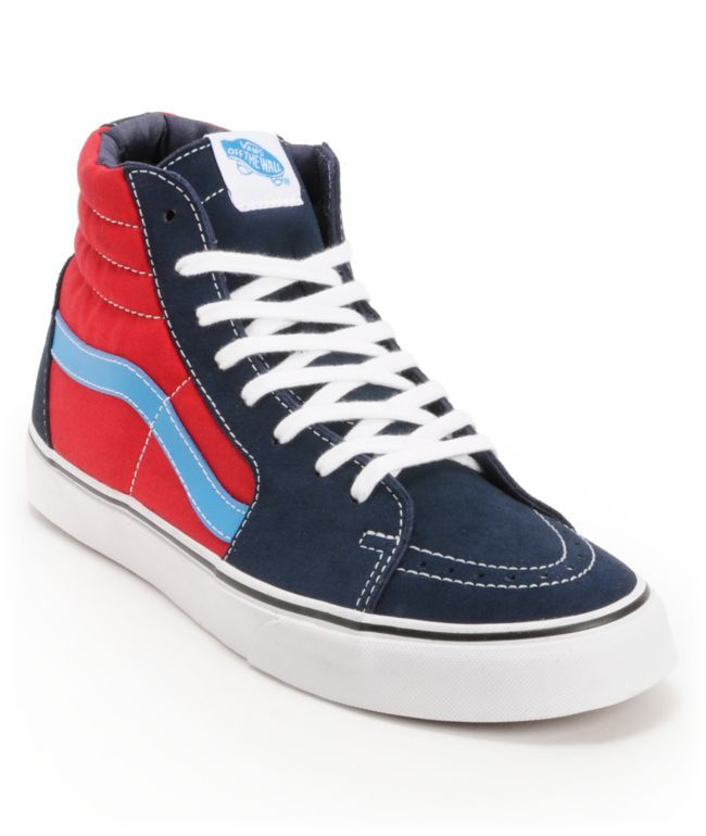 Vans Sk8 Hi Dress Blues & Chilli Pepper