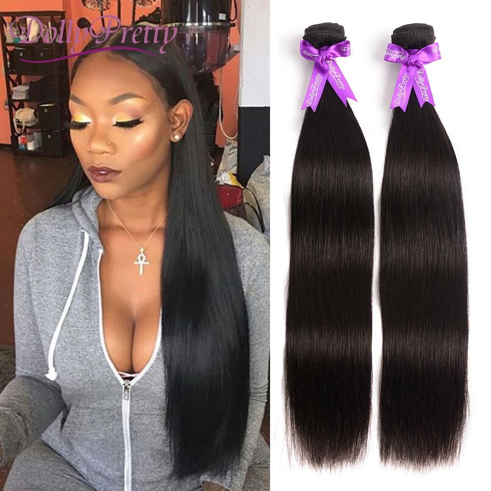 DollyPretty Two Bundles Straight Wave 100 Brazilian