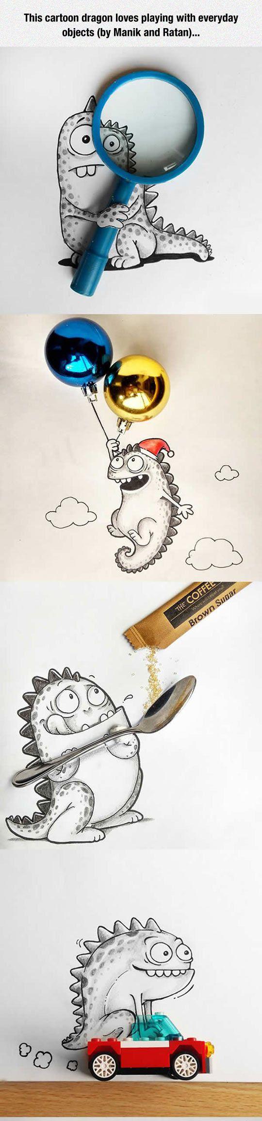 cartoon dragon, decoration design