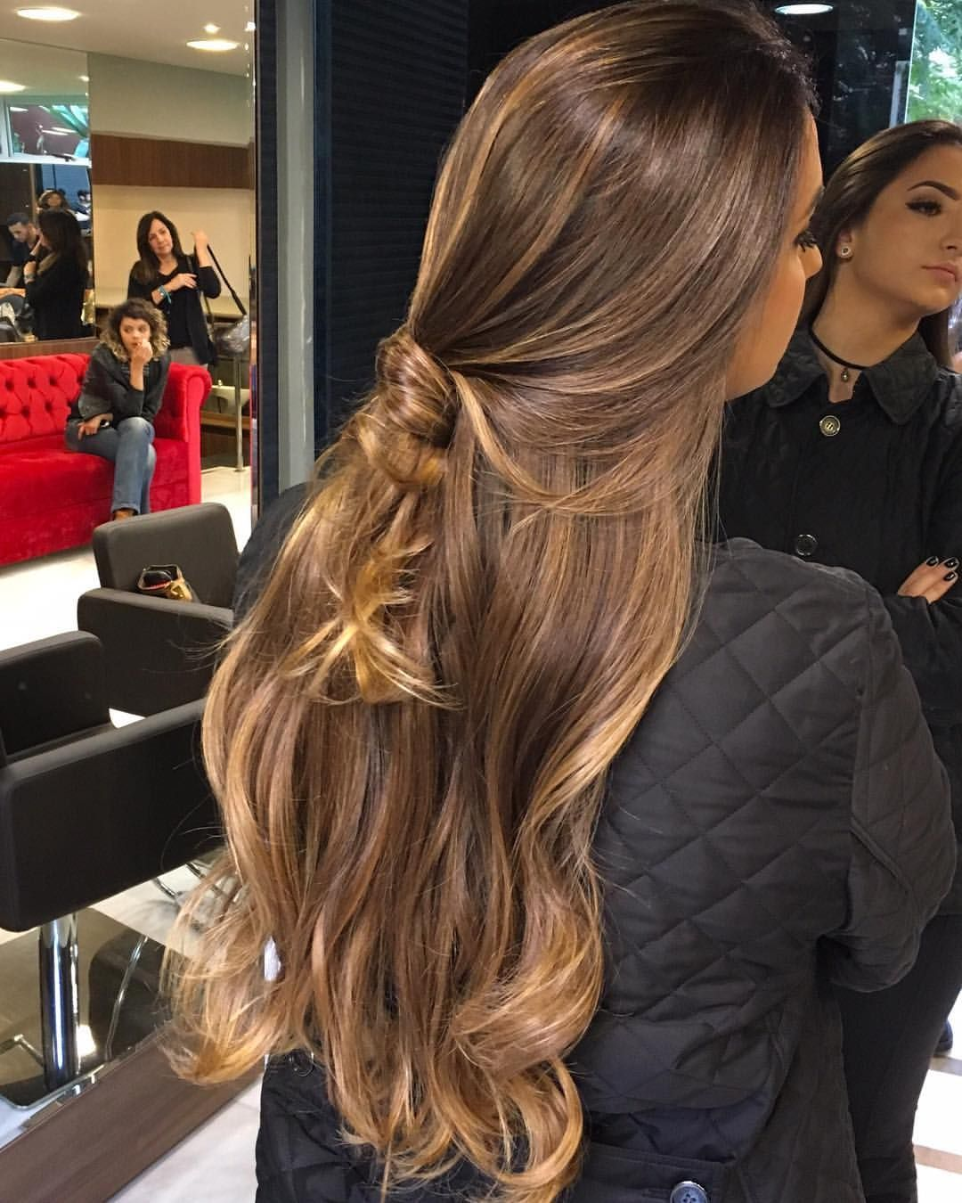 Castanho iluminadoblondhair ombre top_cabelosbr newhairstyle  ombrehair