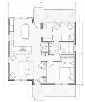 Small House Plans Around 1000 Square Feet