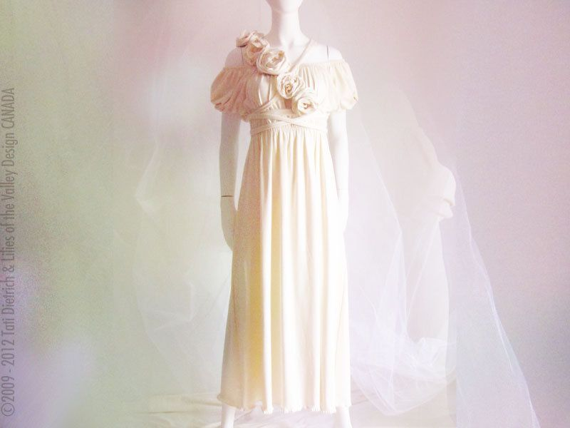 Wedding Dress. Custom Wedding Gown. Wedding Dress Bamboo. Eco Wedding. Floor Length.  Custom Bridal Fashion Handmade
