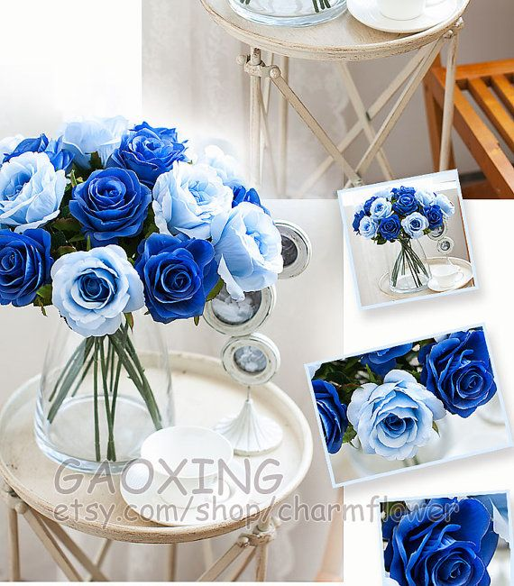 Rose Simulation Flower Silk Flower DIY Wedding Bouquet Wedding Decoration DIY Accessories Indoor Decoration Flower Arranging F406