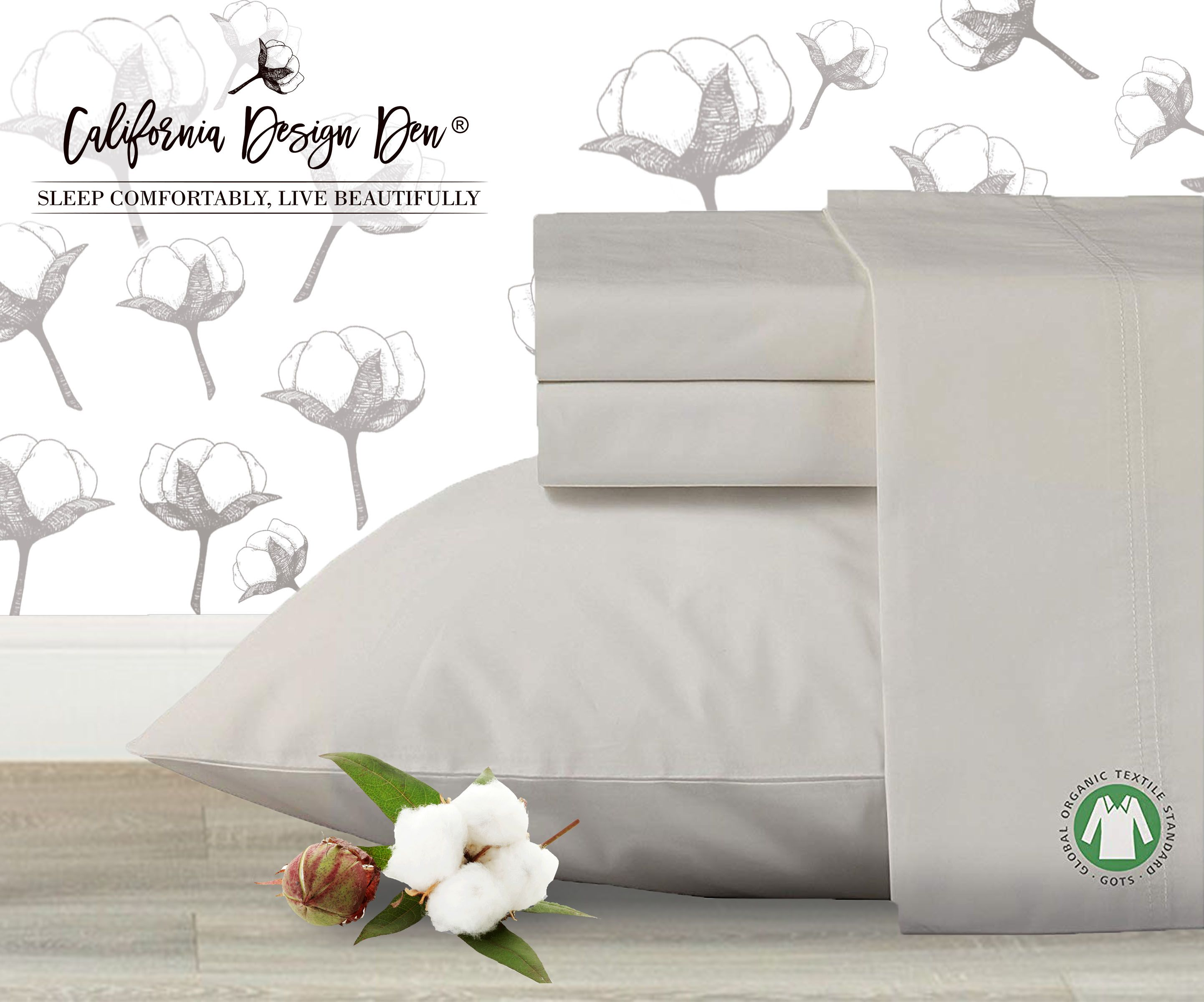 Go Cool Comfortable And Pesticide Free With Organic 100 Cotton Sheets Each Set Of Is Hypoallergenic Pure Natural