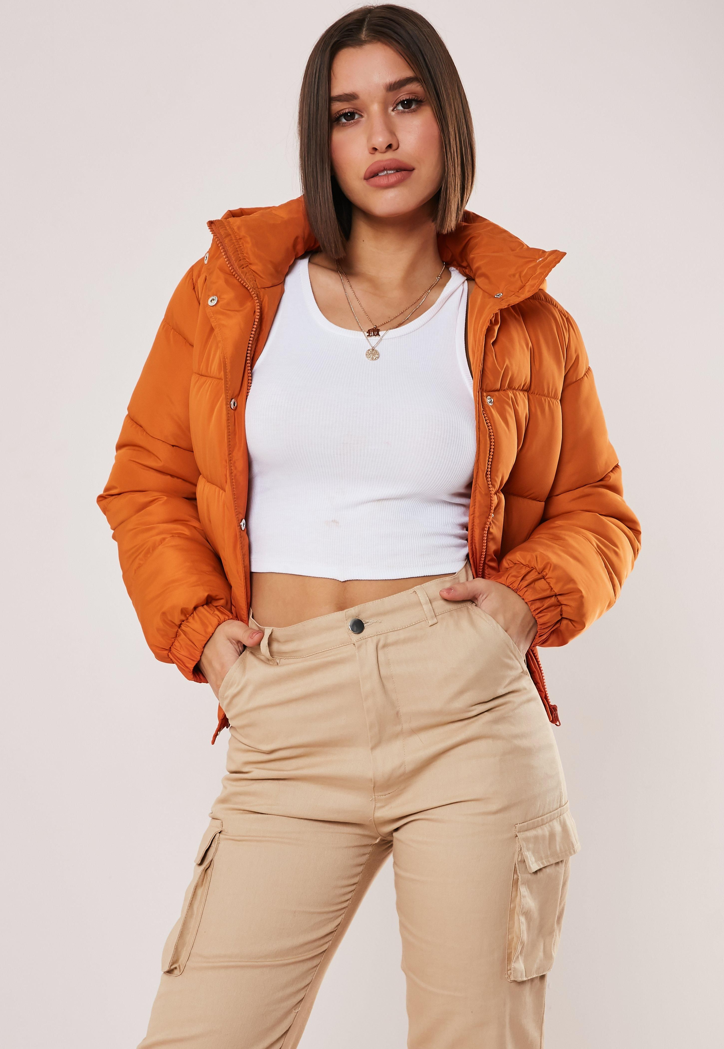 Orange Hooded Puffer Jacket Sponsored Hooded Spon Orange Jacket Coats Jackets Women Puffer Jacket Outfit Puffer Jackets [ 4200 x 2900 Pixel ]