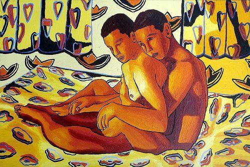 Art gallery gay men