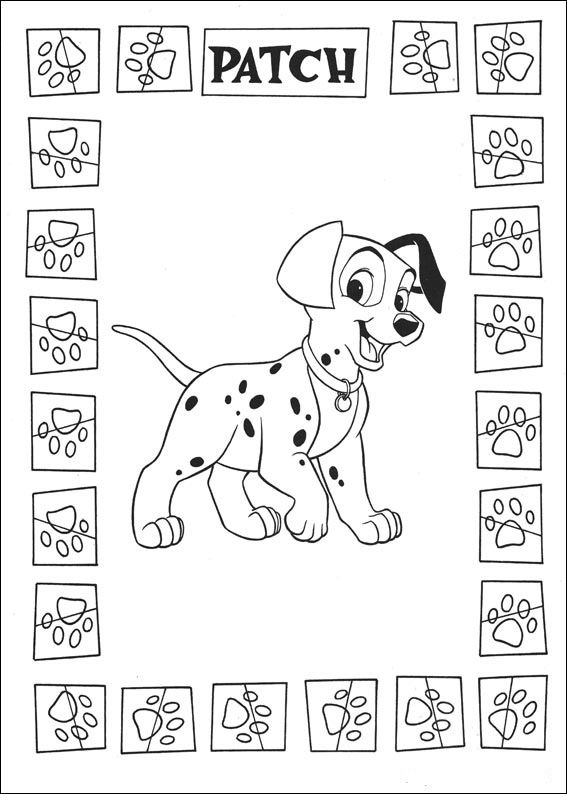 Disegni da colorare per bambini. Colorare e stampa La carica dei 101 ...