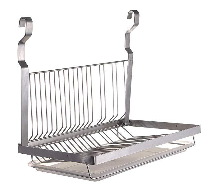 Amazon Com Tqvai Hanging Dish Drying Rack With Drain Board