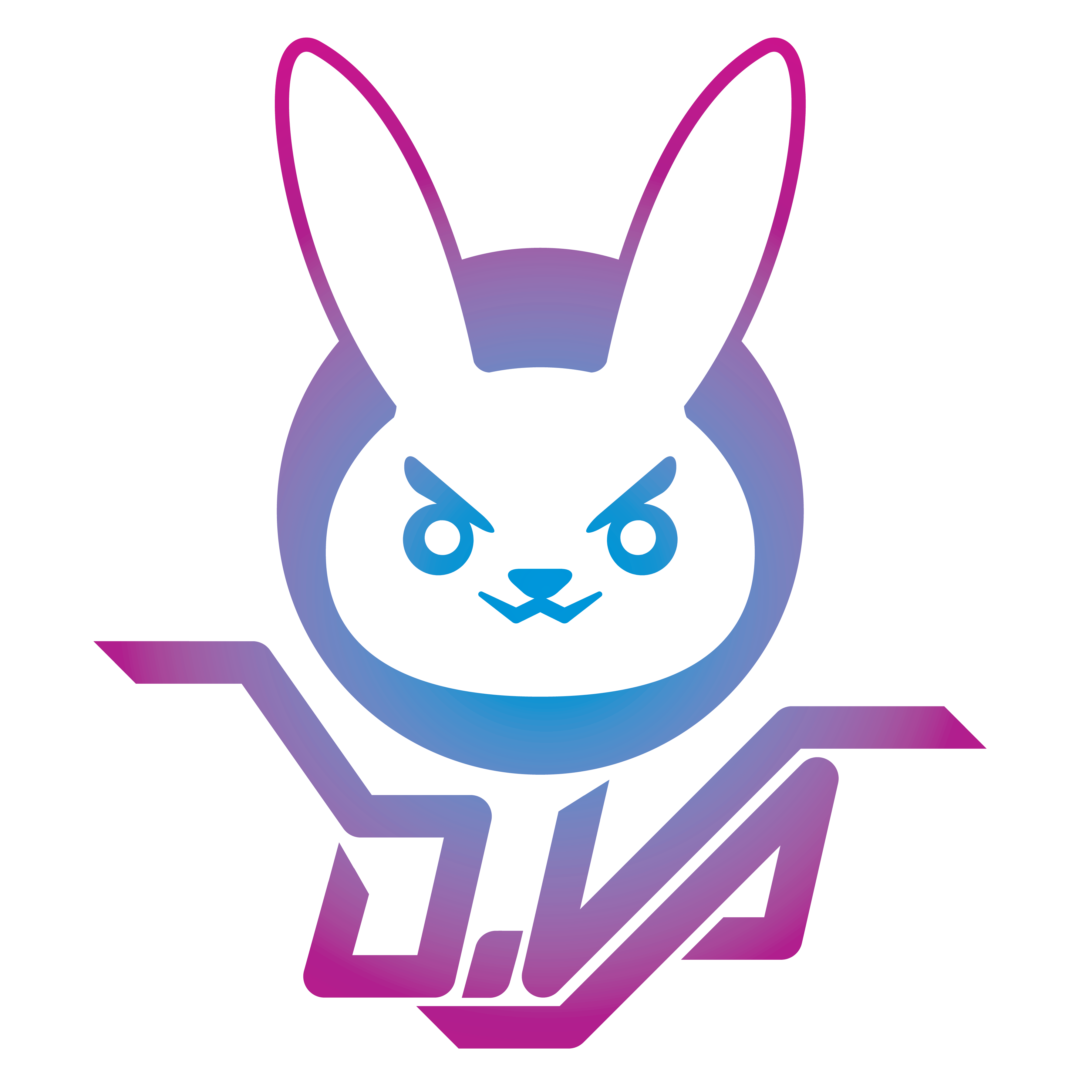 I Made My Own Version Of D Va S Logo For A Personal Project Game Logo Geek Stuff Logos