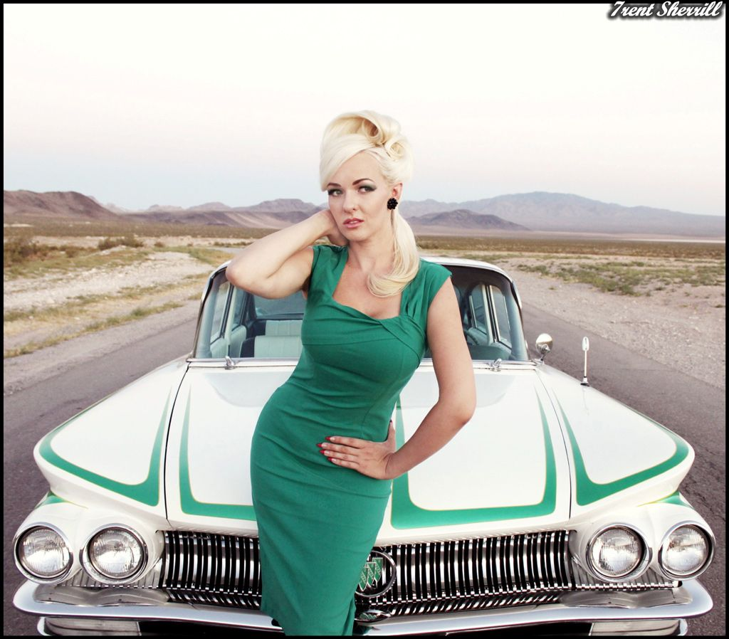 Classic cars picture girl model