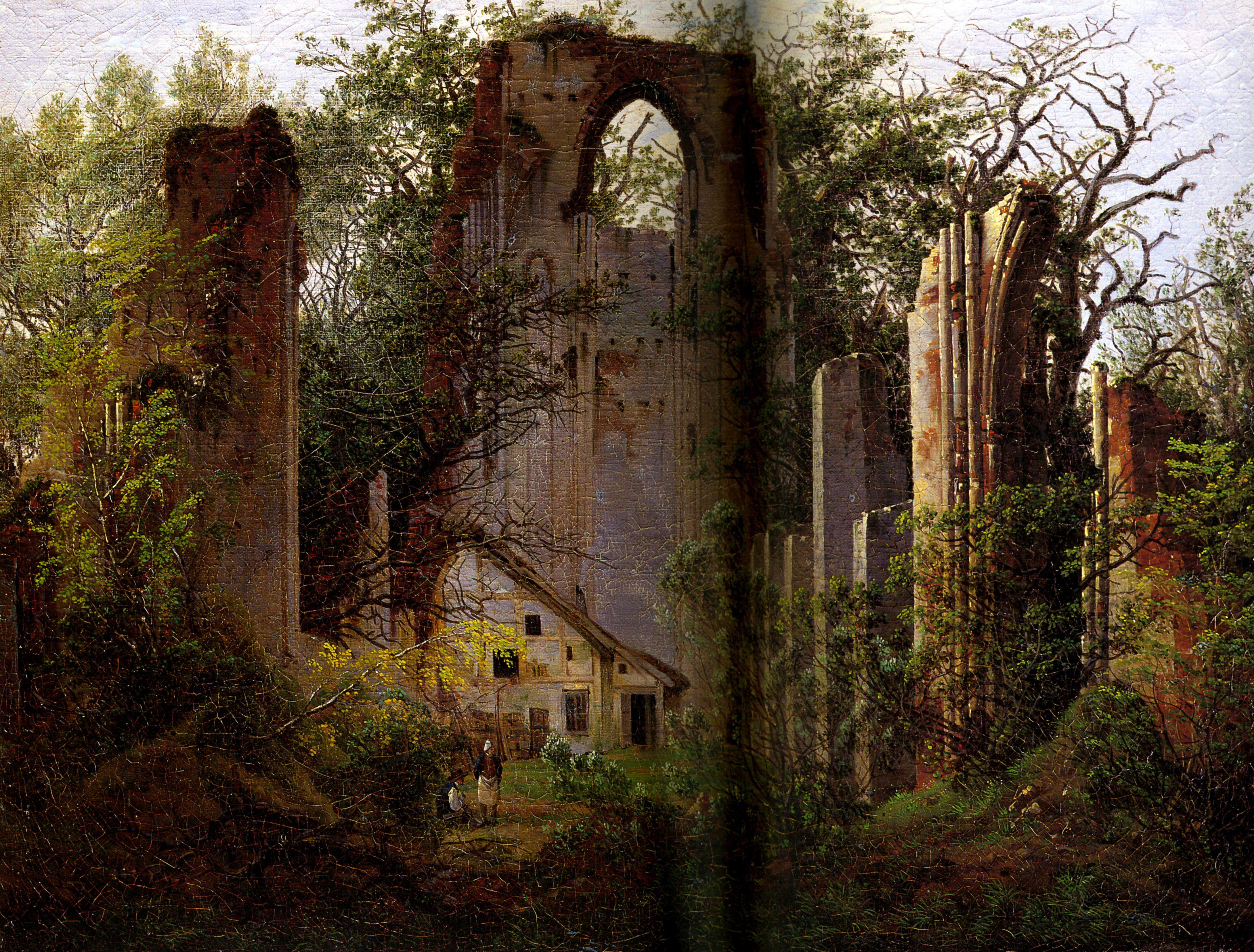 1825 Caspar David Friedrich Les Ruines D Eldena