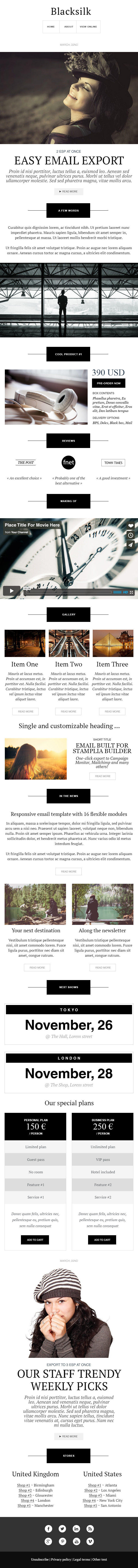 Blacksilk Stamplia Builder  Sales  Email Templates Marketplace