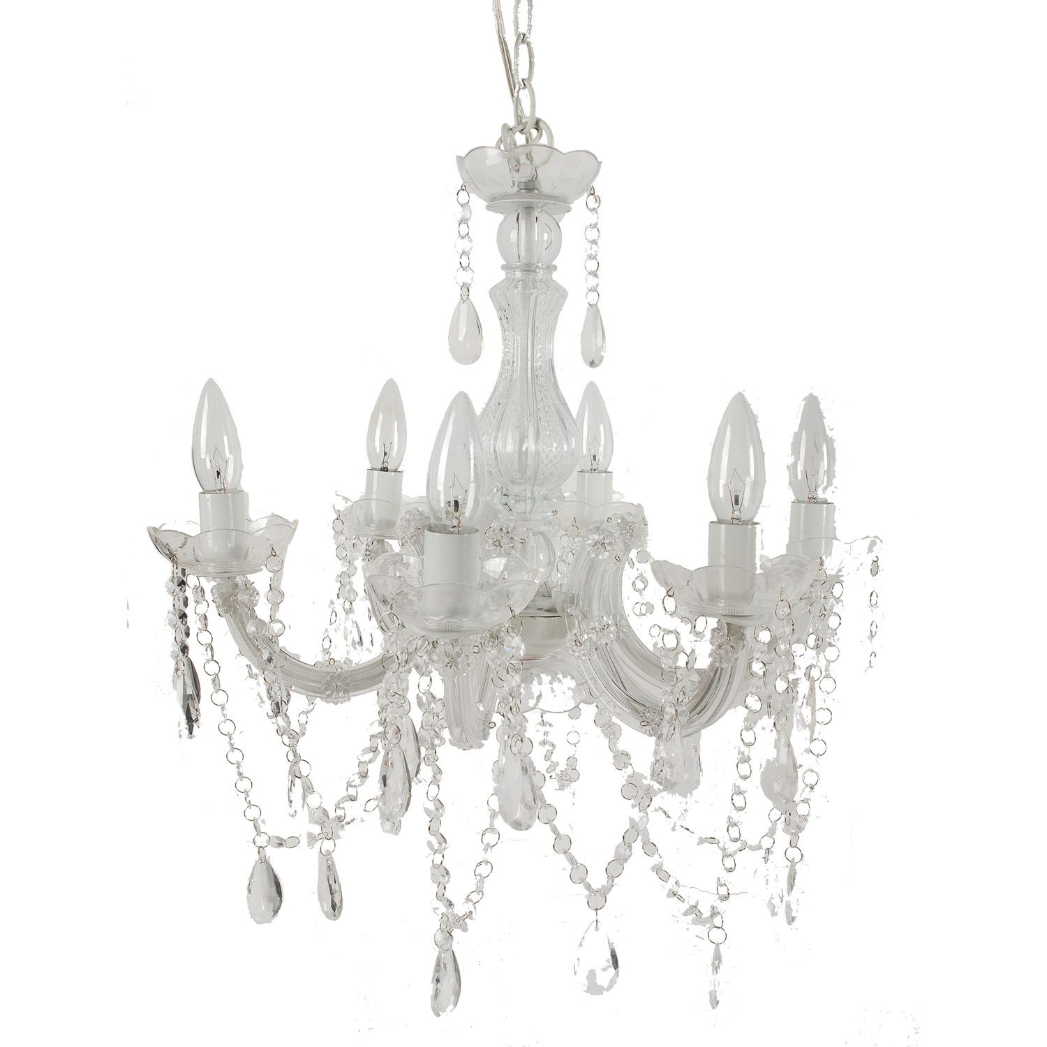 A&B Home Group Inc 6 Light Crystal Chandelier