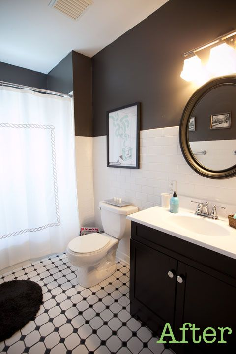 What Color To Paint Walls In Black And White Bathroom