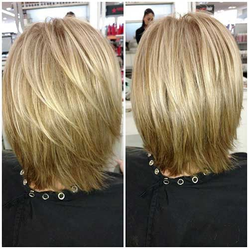 Back View Of Short Layered Haircuts The Undercut Bob Hairstyles Layered Bob Hairstyles Short Hair With Layers