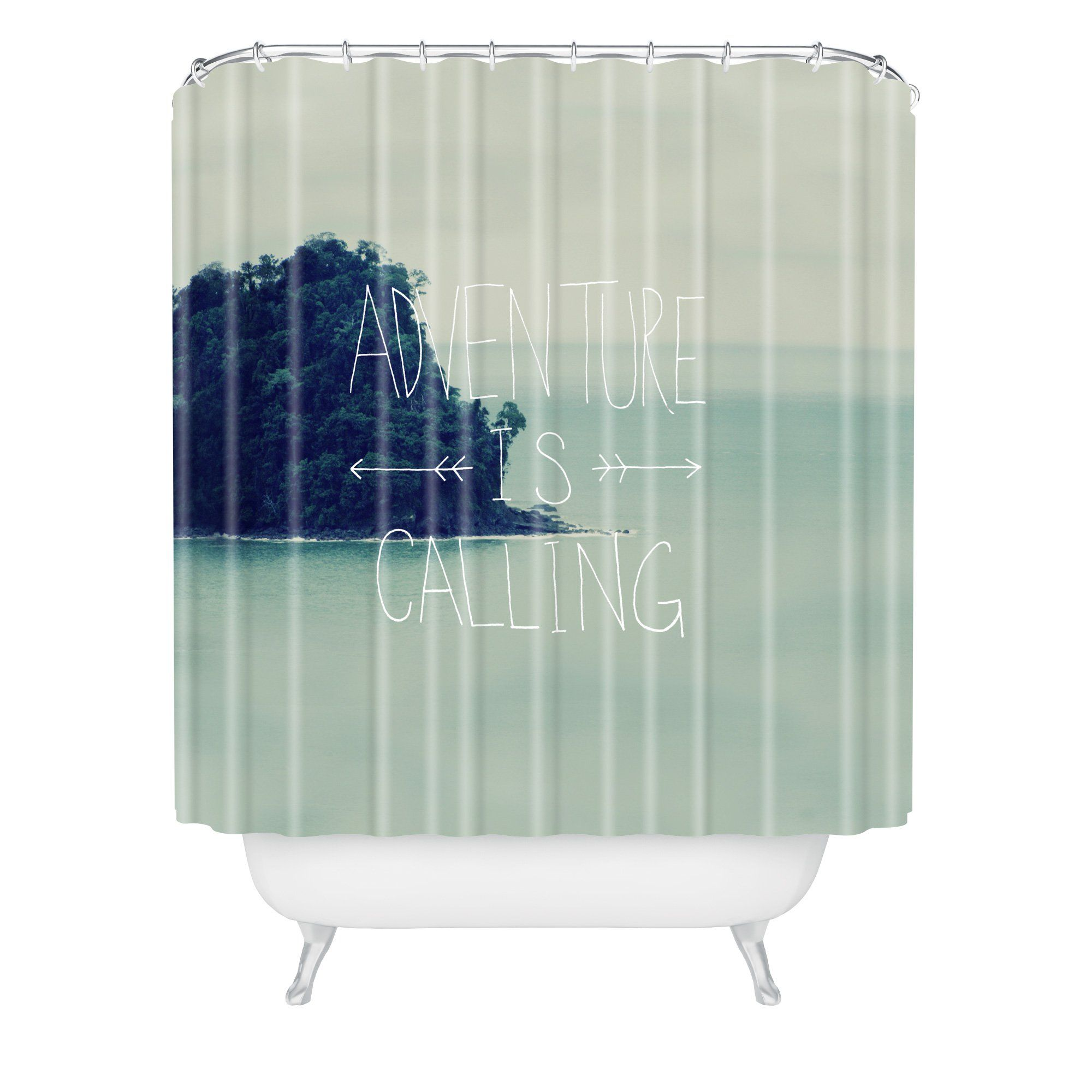 Leah Flores Adventure Island Shower Curtain is part of Home Accessories Design Islands -