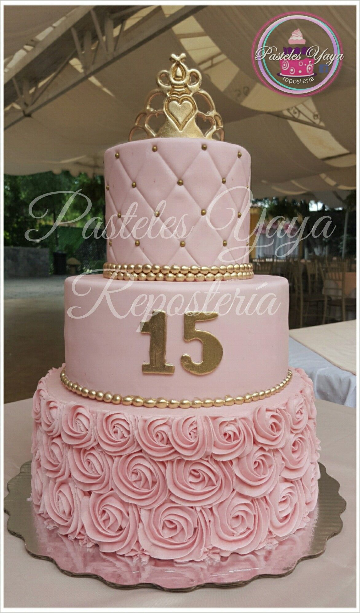 Pleasing Pastel De Xv Anos With Images 15Th Birthday Cakes Sweet 16 Personalised Birthday Cards Paralily Jamesorg