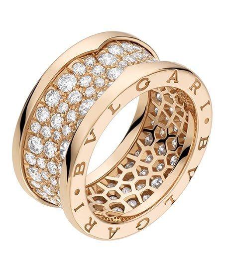 6ac136d0fdd6 Anillo Bulgari - Joyas - Anillos - Joyas mujer - Anillos para mujer -  Irregular Anillo Bzero1 en oro rosa con pavé de diamantes (2