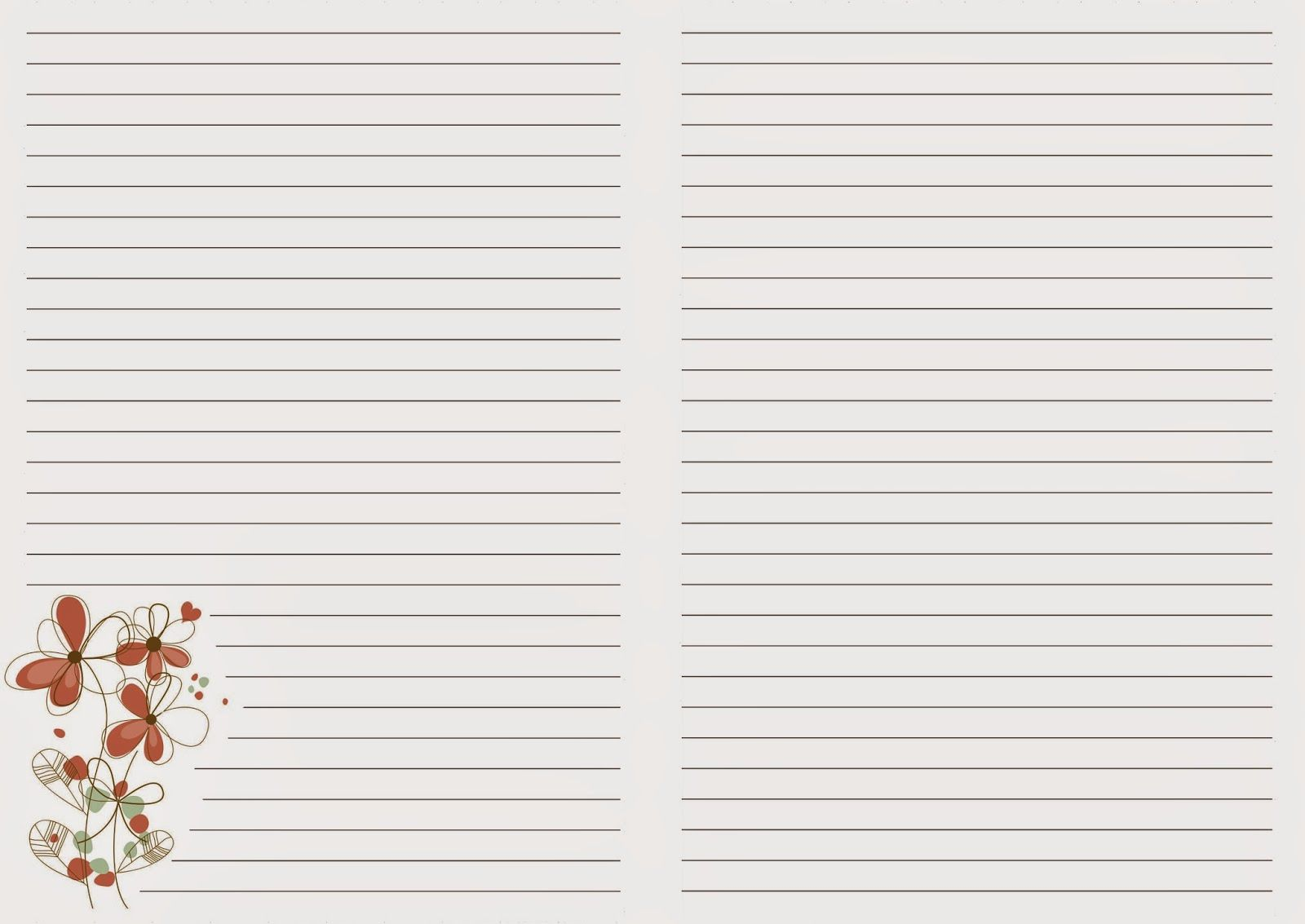 Страницы для блокнота шаблоны а6, исполнение