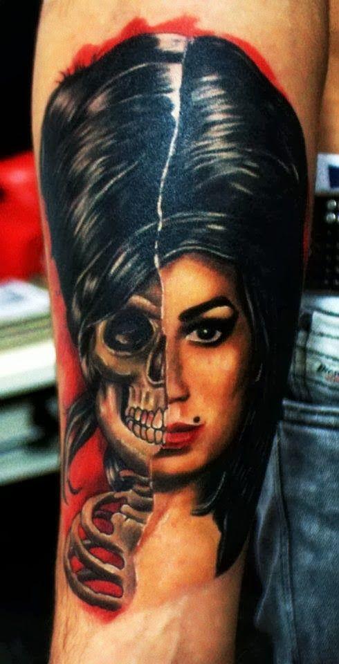 Amy Winehouse Tattoo By Reşat Gül | Tattoos & Piercings ...  Amy Winehouse T...