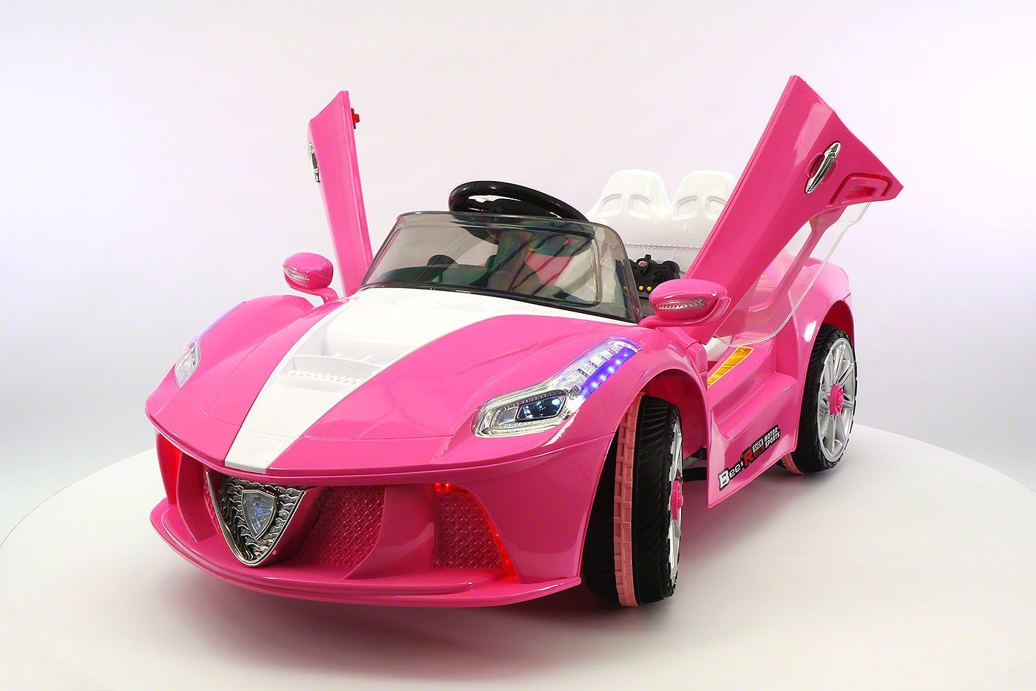 spider gt kids 12v ride on car with rc parental remote pink