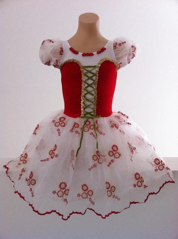 Details About Stunning Red Tarantella Ballet Romantic Tutu