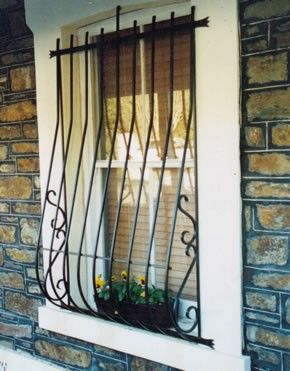Window grill designs ideas for homes design bars security also best images iron gates furniture doors rh pinterest